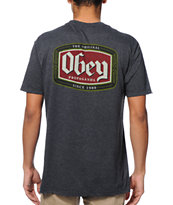 Obey Original Lager Charcoal Tee Shirt
