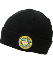 Obey Out Here Black Fold Beanie