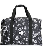 Obey Outsider Black Floral Weekender Duffle Bag