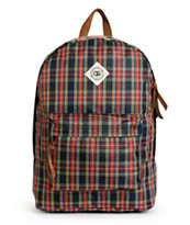 Obey Outsider Plaid Backpack