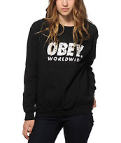 Obey Painted Futura Crew Neck Sweatshirt