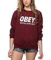 Obey Painted Futura Crew Neck Sweatshirt