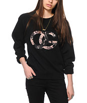 Obey Parker Black Crew Neck Sweatshirt