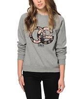 Obey Parker Gunmetal Crew Neck Sweatshirt