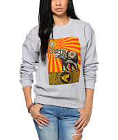 Obey Peace Elephant Crew Neck Sweatshirt