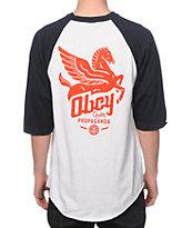 Obey Pegasus Baseball T-Shirt