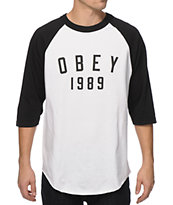 Obey Phys-Ed Baseball T-Shirt