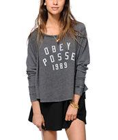 Obey Phys Ed Raglan Sweatshirt