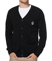 Obey Pirate Posse Black Cardigan Sweater