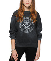 Obey Pirates Tie Dye Crew Neck Sweatshirt
