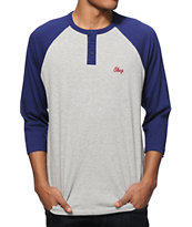 Obey Pitch Henley Baseball T-Shirt