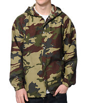 Obey Port Field Camo Windbreaker Jacket