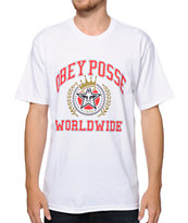 Obey Posse Worldwide White Tee Shirt