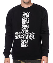 Obey Possessed Black Crew Neck Sweatshirt