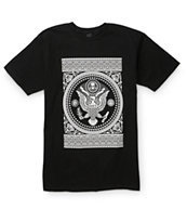 Obey Presidential Seal Black Tee Shirt