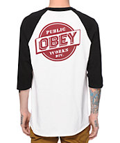 Obey Public Works Baseball T-Shirt