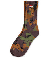 Obey Quality Dissent Blotch Camo Crew Socks