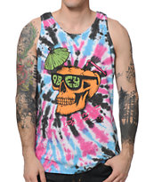Obey RIP Berry Spiral Tank Top