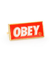 Obey Red Standard Issue Pin
