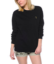 Obey Redmont Black Crew Neck Sweatshirt