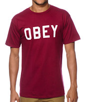 Obey Reflective Collegiate T-Shirt
