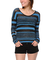 Obey Revelry Blue Stripe Long Sleeve Top