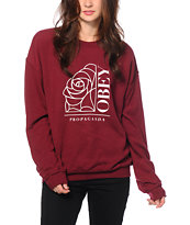 Obey Rose Noir Crew Neck Sweatshirt