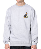 Obey Rot Heather Grey Crew Neck Sweatshirt