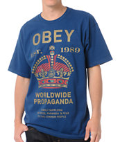 Obey Royal Mandate Blue Tee Shirt