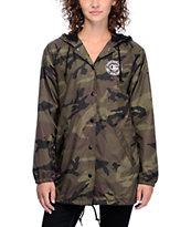 Obey Rue De La Ruine Camo Coaches Jacket