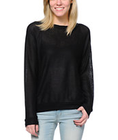 Obey Silver Lining Black Raglan Sweater