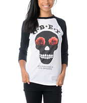 Obey Sinner White & Black Baseball T-Shirt
