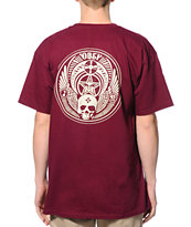 Obey Skull & Wings Oxblood Tee Shirt
