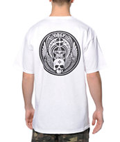 Obey Skull & Wings White Tee Shirt