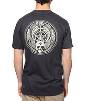 Obey Skull and Wings Charcoal Tee Shirt