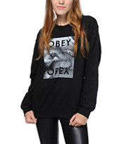 Obey Smoke Agate Worldwide Crew Neck Sweatshirt