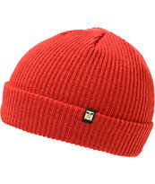 Obey Standard Red Fold Beanie