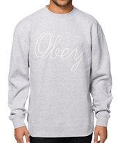 Obey Stanton Crew Neck Sweatshirt