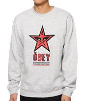 Obey Star 96 Crew Neck Sweatshirt