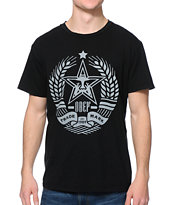 Obey Star Crest Black Tee Shirt