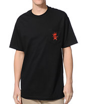 Obey Star Crown Black Pocket Tee Shirt