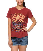 Obey Stay Weird Red Back Alley Tee Shirt