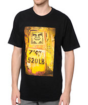 Obey Stencil Rack Black Tee Shirt