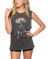 Obey Stockpile Dusty Black Muscle Tee