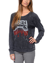 Obey Stone Black Raglan Top
