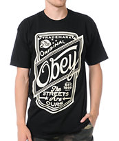 Obey Streets Are Ours Black Tee Shirt