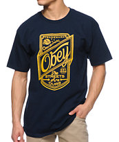 Obey Streets Are Ours Navy Tee Shirt