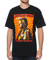 Obey The Black Hills Are Not For Sale Black Tee Shirt