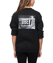 Obey The End Black Crew Neck Sweatshirt