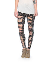 Obey The Ripper Acid Wash Leggings